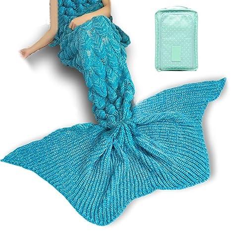 Cola de sirena manta, iFUOFF cola de pez manta suave y ...