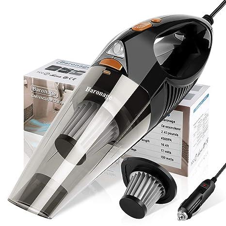 Amazon.com: Aspiradora portátil para coche – Baronaje DC 12 ...