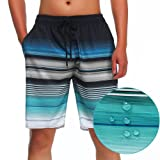 MILANKERR MEN'S SWIM TRUNK,Blue,Large