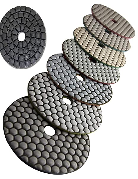 5 Diamond Dry Polishing Pad 7 Glaze Buffer Stone Marble