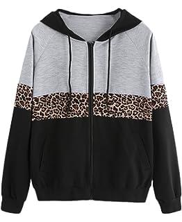 Mujer Chaquetas Sudaderas con Capucha Invierno Otoño Abrigos Clásico Especial Estampadas Leopardo…