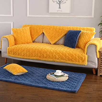 Amazon Com Used Sofas Couches Living Room Furniture >> Royhom 2pcs Square Covers For Armrest Backrest Not Seat Cover For Sofa Loveseat Couch Plush 2pcs 28 X 28 2 Square Pieces