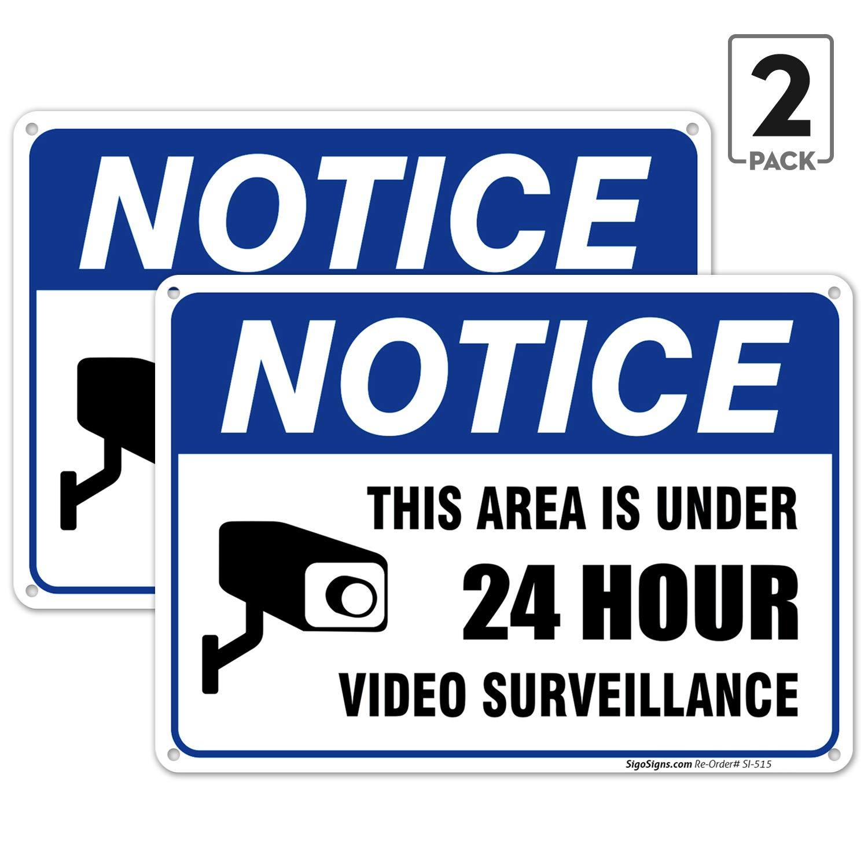 Amazon.com: (Paquete de 2) – señal de vigilancia de vídeo ...
