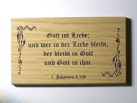 Taufgeschenk Taufe Spruch Bibel Schild Gott Ist Liebe Schreibschrift