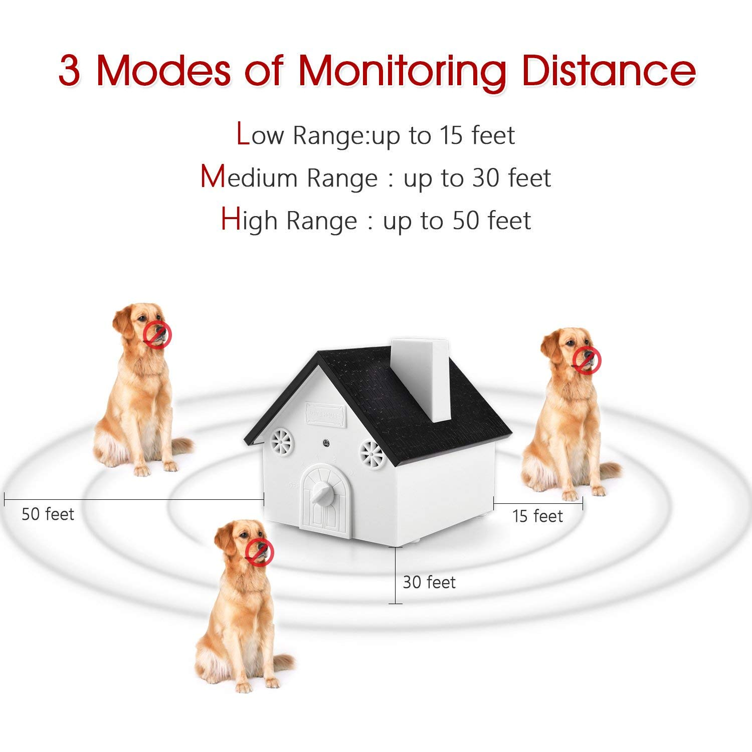 ATL LLC Ultrasonic Dog Bark Controller Anti-Barking Device Sonic Bark Deterrents Training Tool, Outdoor & Indoor Uses, Safe for Dogs, Pets and Human, Hanging or Mounting (Anti Barking)