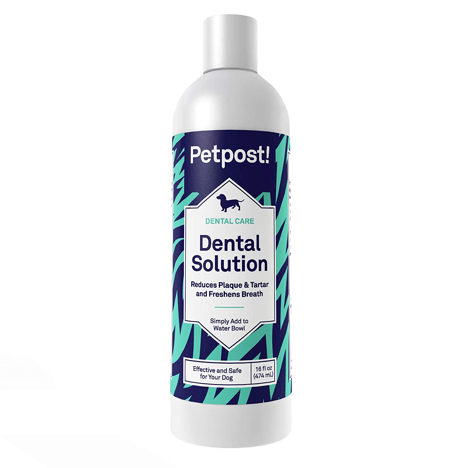 Petpost | Dental Solution for Dogs - Water Additive That Kills Bad Breath - Plaque and Tooth Decay - Natural Tooth Cleaning Solution