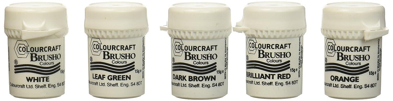 Brusho by Colourcraft Brusho Crystal Set 24 Color Colour Armadillo Art & Craft BRU85001