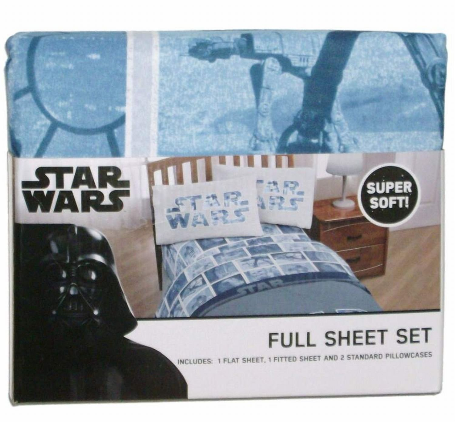 Star Wars Classic Logo Sheet Set Full Jay Franco /& Sons