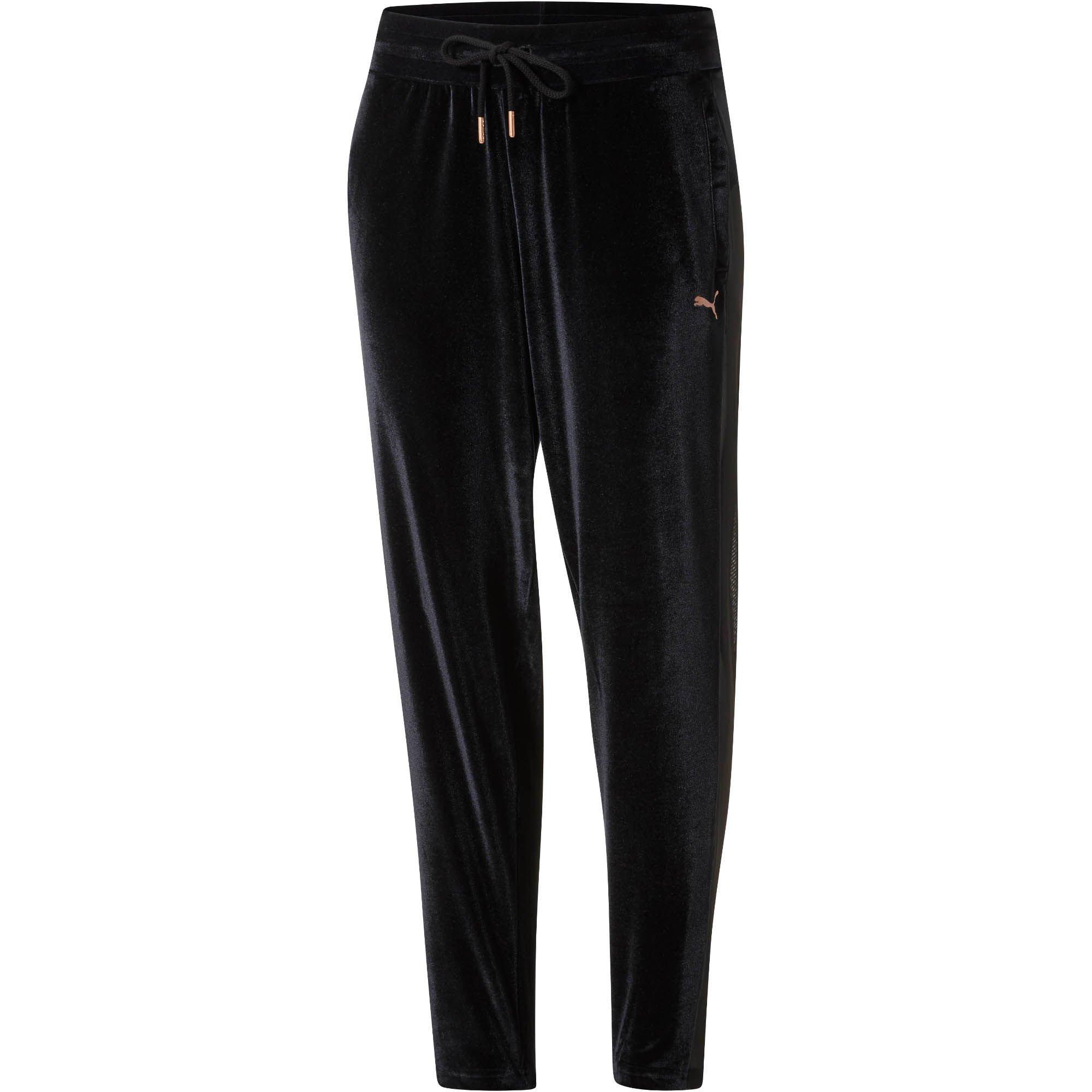 PUMA Women's Yogini Velvet Pants Black Small