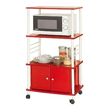 SoBuy® Carrito de cocina, estante de cocina, estante con ruedas, estantería de cocina, FRG12-R,ES: Amazon.es: Hogar