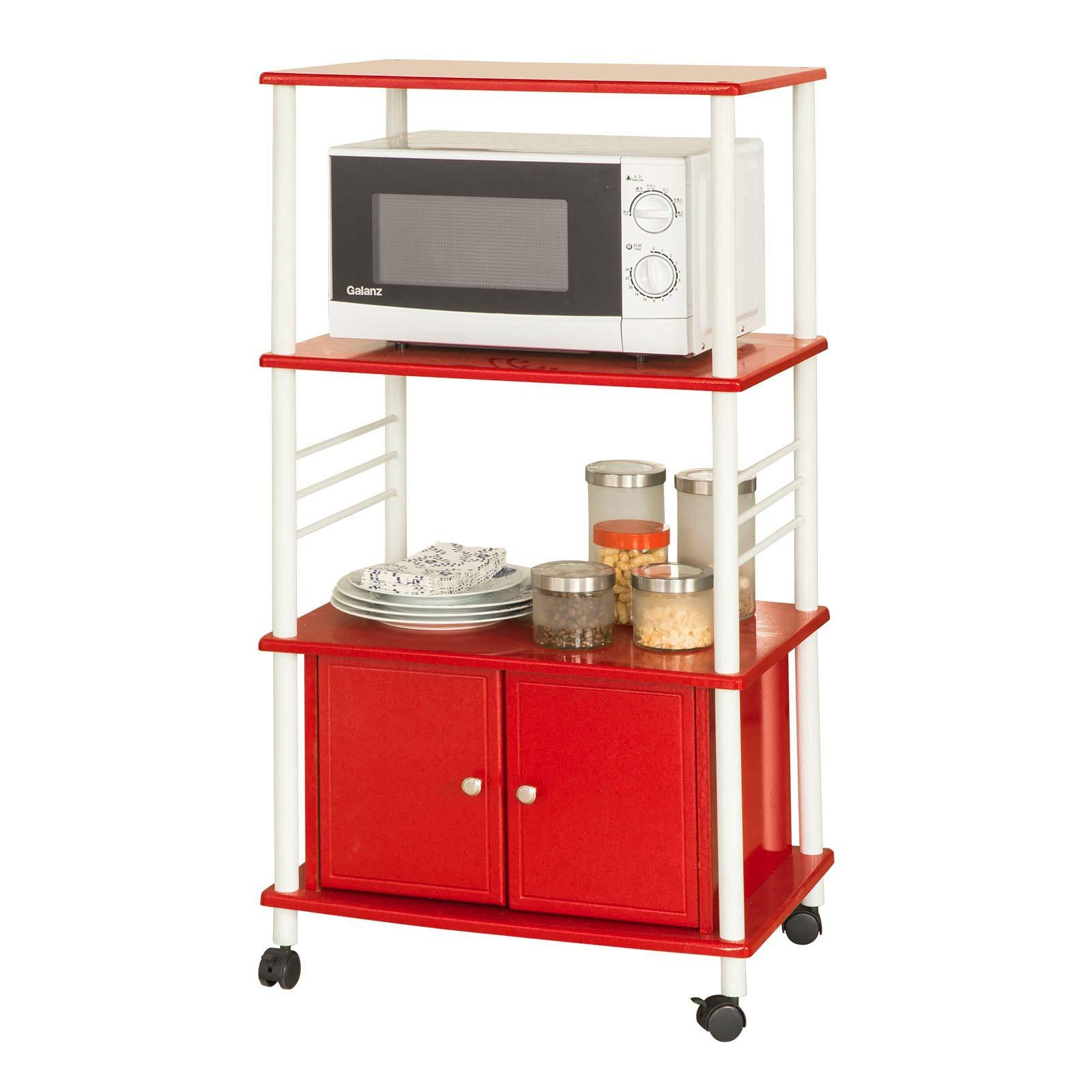 SoBuy® Carrito de cocina, estante de cocina, estante con ruedas, estantería de