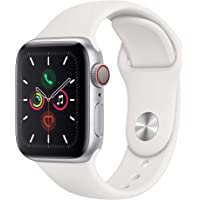 $459 » Apple Watch Series 5 (GPS + Cellular, 40mm) - Silver Aluminum Case with White Sport Band
