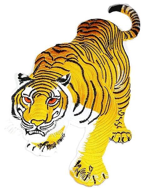 Tamaño grande tigre rey de la selva chaqueta camiseta parche coser hierro en bordados Badge Sign. Pasa ...