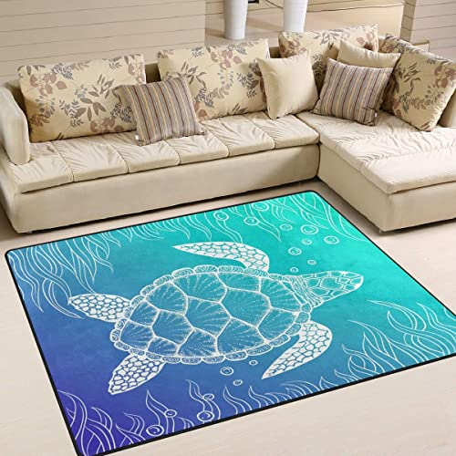 ALAZA Art Stylish Sea Turtle Area Rug Rug