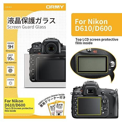 ORMY 0.3mm Protector de Pantalla para cámara para Nikon D610 ...