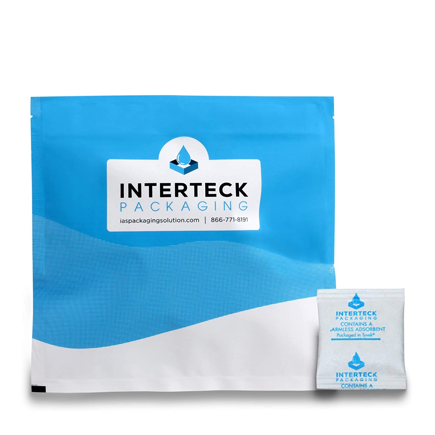Interteck Packaging 0.5 Gram Silica Gel Packets - Rechargeable Desiccant Packets and Dehumidifiers (Non-Indicating, Tyvek 500 Pack)