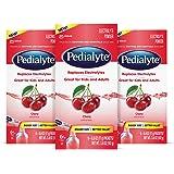 Pedialyte Electrolyte Powder, Electrolyte Drink, Cherry, Powder Sticks, 0.6 oz, 6 Count, 3 Pack