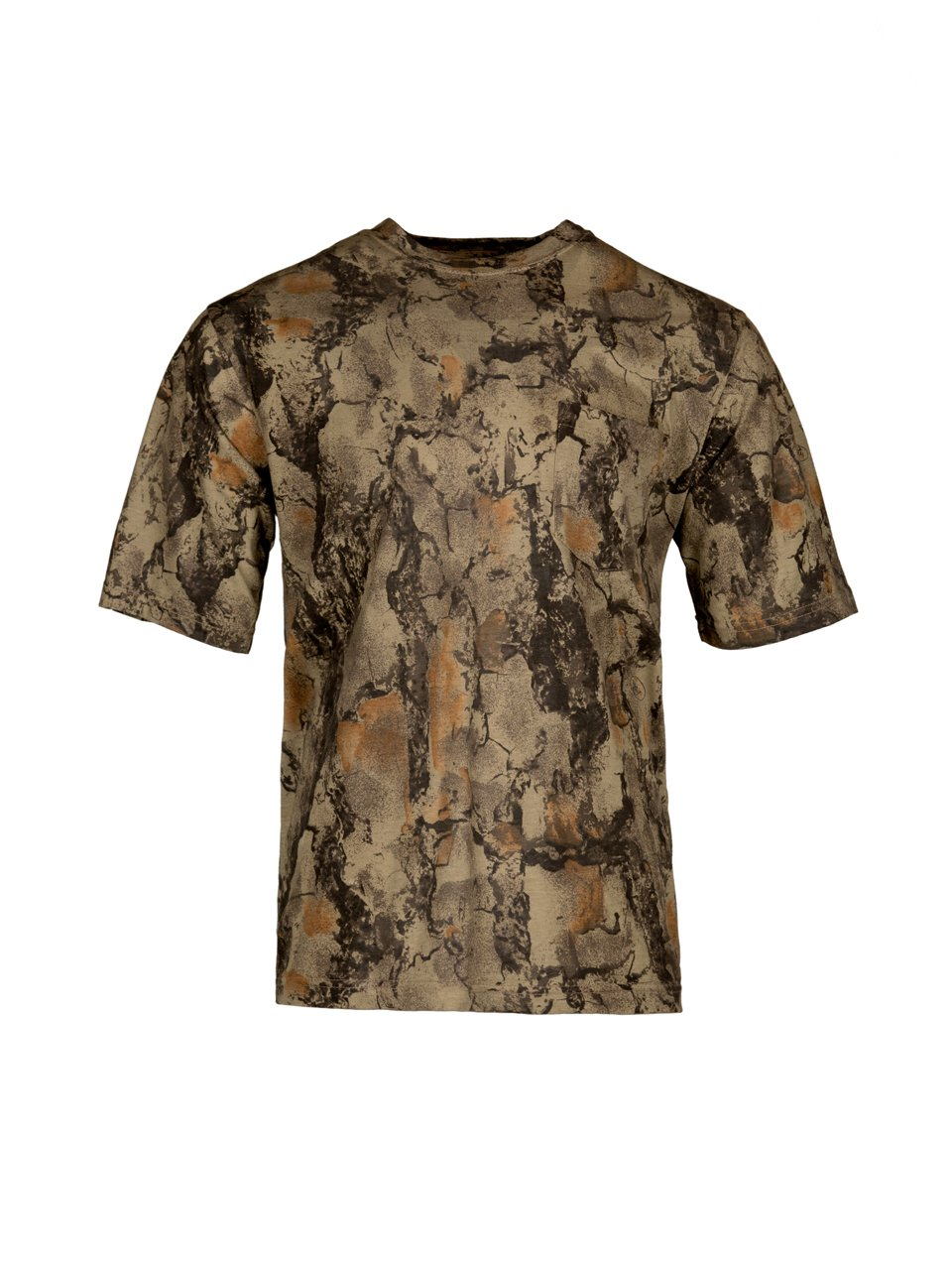 67a8eaff9fd39 COTTON/POLY T-SHIRT: Our Natural Gear camo shirt is made out of a cotton/poly  blend material that is lightweight and breathable.
