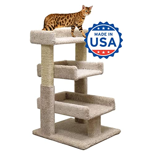 Amazon.com: Cat Árbol Small 33 inch Cat Muebles Madera Y ...