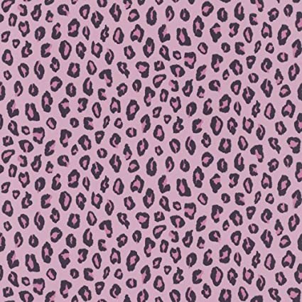 Leopard Print Wallpaper Animal Print Girls Bedroom Pink Black Salon ...