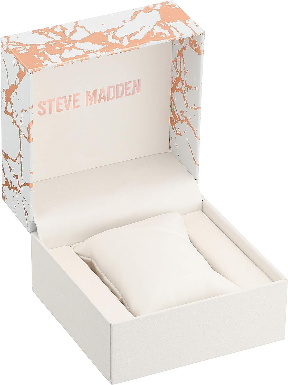 Steve Madden Rhinestone Link Large Dial Women's Watch (SMW240) White