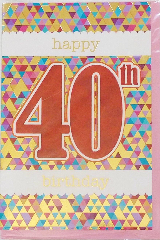 Amazon Happy 40th Birthday Greeting Card