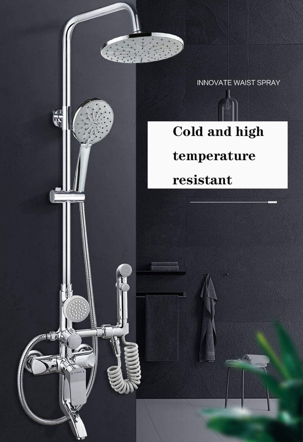 XUE-tap Sistema de Ducha de Lluvia Grifo de Cobre Completo Masaje de Cinco velocidades SPA Baño Ducha Ducha de Lluvia con Grifo de Ducha de Mano: Amazon.es: Hogar