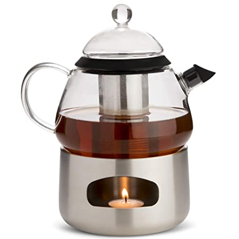 Amazon Com Elfin Glass Teapot 800ml Stainless Steel Loose Leaf