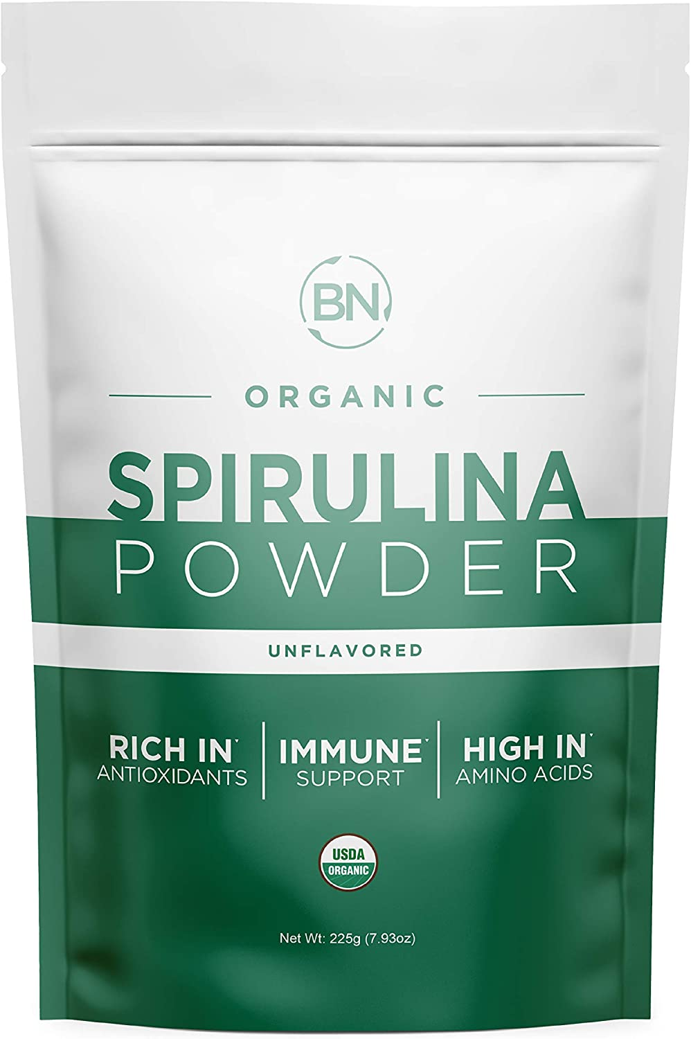 Spirulina Powder Organic - USDA Certified - RAW Nutrient Dense Over 70% Protein Per Serving - Purest Source Vegan Protein - Superfood - Rich in Vitamins and Minerals: Health & Personal Care