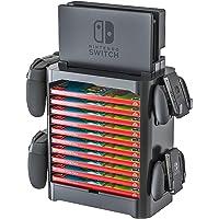 Torre de almacenamiento para Nintendo Switch. Estante apilable para estuches de videjuego y organizador de driver…