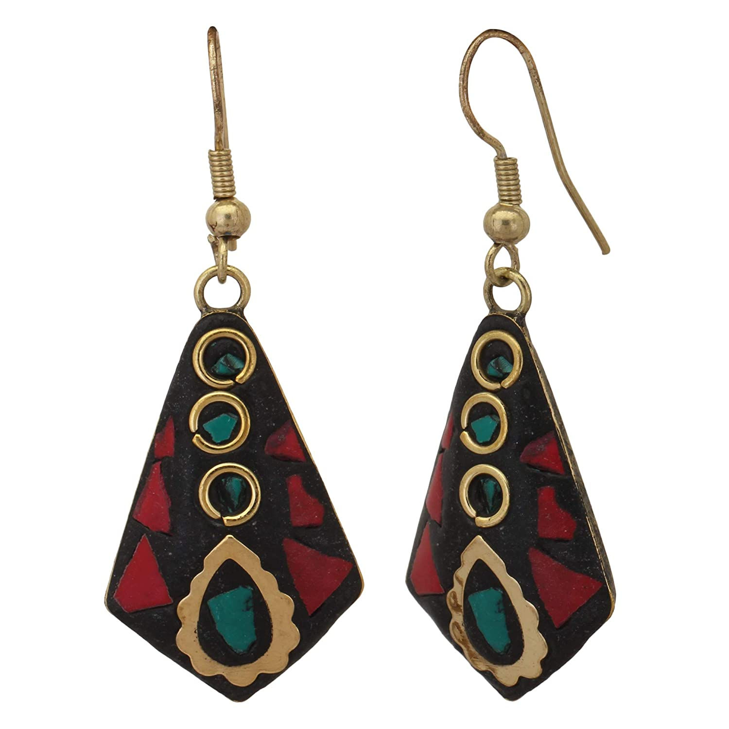 ZIKU JEWELRY Bohemian Dangle /& Drop Oar Shaped Earrings For Girls /& Women