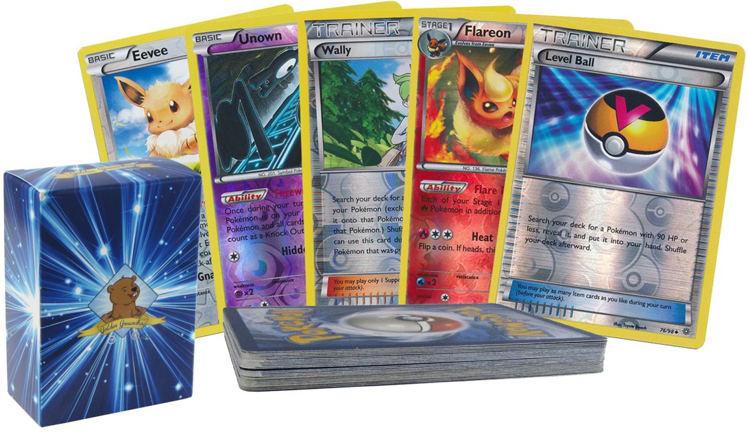 25 Pokemon Reverse Foil Grab Bag Card Pack Lot with No Duplication! Includes Custom Golden Groundhog 60 Count Box!