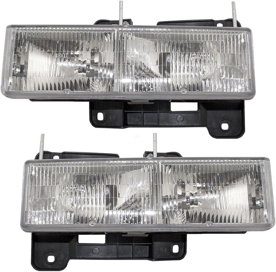 Fog Driving Light Lamp Pair Set for Chevy Blazer Tahoe GMC Yukon Pickup Truck