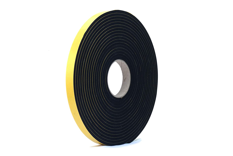 3//4 wide x 1//4 thick x 33 feet long NEOPRENE RUBBER Self Adhesive Strip