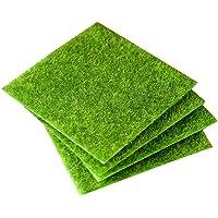 STOBOK 2pcs Artificial Grass Life Like Fairy Fake Grass Tile Indoor Outdoor Carpet Garden Lawn Landscape