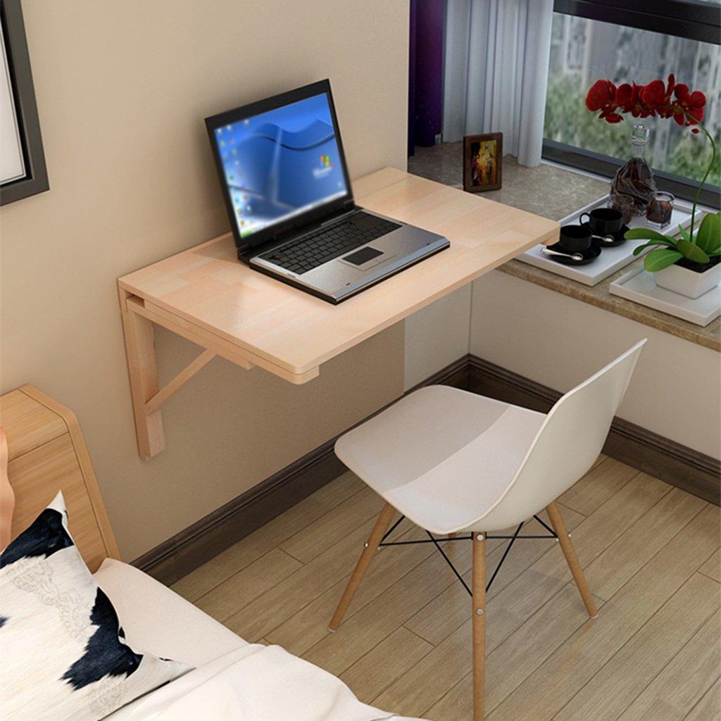 ソリッドウッドの壁のテーブル壁のテーブルのダイニングテーブルの折り畳みコンピュータのデスクの壁のテーブルスタディデスクの折りたたみテーブル 折畳式の (サイズ さいず : 80*50cm) B07DGXDGNR 80*50cm 80*50cm