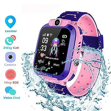 Winnes Inteligente Reloj para Niños, IP67 Impermeable Smart Watch Phone 2 Vías Llamada Reloj Niñas Localizador con SOS Anti-Lost Alarm Táctil ...