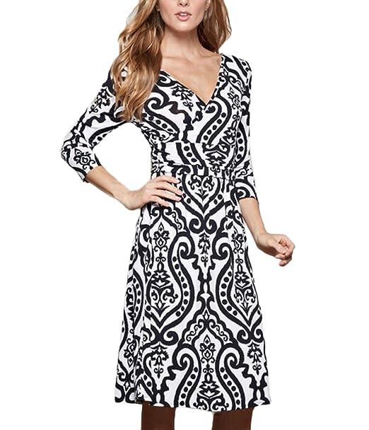 666a5cacc1 Laisla Fashion Vestiti Donna Al Ginocchioabito Eleganti Chic Abiti ...