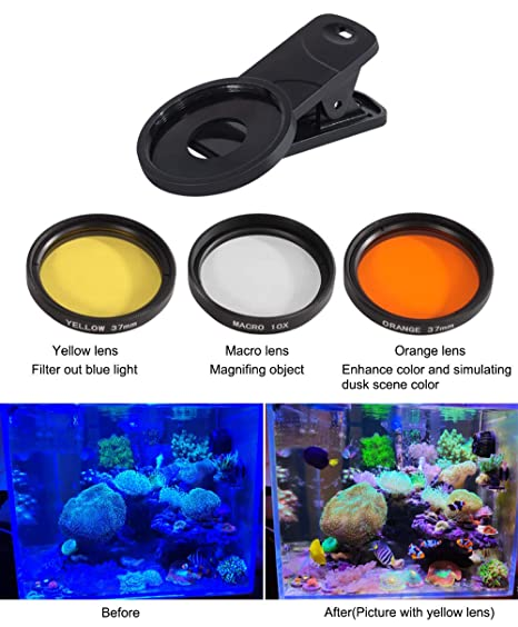 4ffaa51f1dd6 Amazon.com  Aquarium Choice Coral Lens Filter Kits for Phone  Pet Supplies