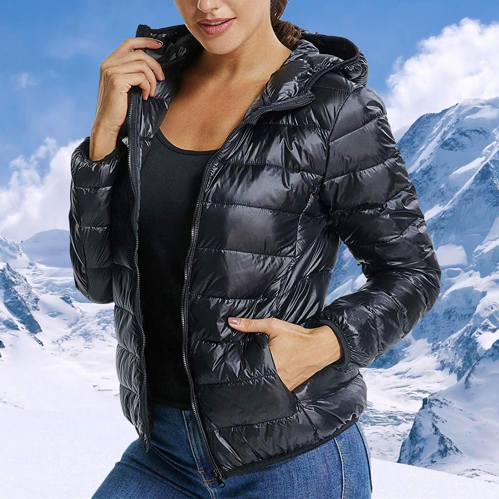 STARBILD Womens Ultra Lightweight Hooded Packable Outwear Puffer Down Jacket