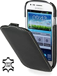 StilGut, UltraSlim, pochette exclusive pour le Samsung S3 mini i8190, noir