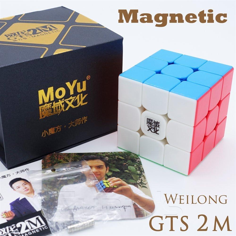 Moyu MAGNETICO *Weilong GTS v2 M* - Magnetizado 3x3 Profesional & Competencia Cubo de Velocidad Magic Cube Rompecabezas 3D Puzzle - STICKERLESS: Amazon.es: Juguetes y juegos