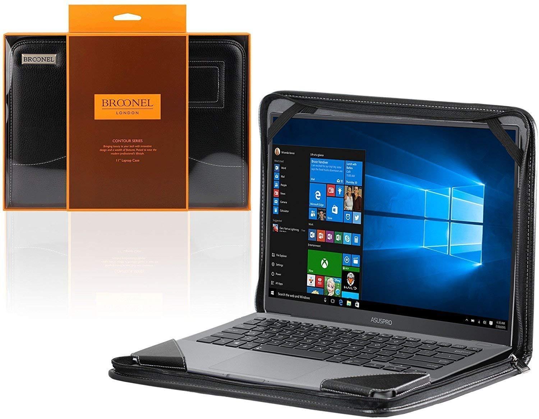 Broonel - Contourシリーズ - ブラック高耐久レザー保護ケースカバー HP ZBook Studio G5 15.6インチ / HP ZBook Studio X360 G5 15.6インチに対応   B07NPQFL59