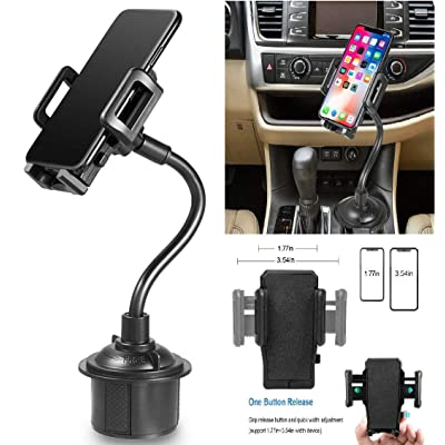 Coverlab Car Cup Holder Phone Mount with Longer Gooseneck Neck & 360° Rotatable Cradle Compatible for Samsung Galaxy A10e/A50/A30/A20/A20e Cup Mount, Black