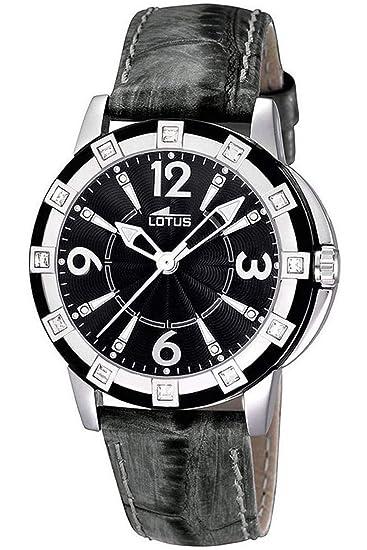 85d147e9af2e Lotus 15745 4 - Reloj analógico de cuarzo para mujer con correa de piel