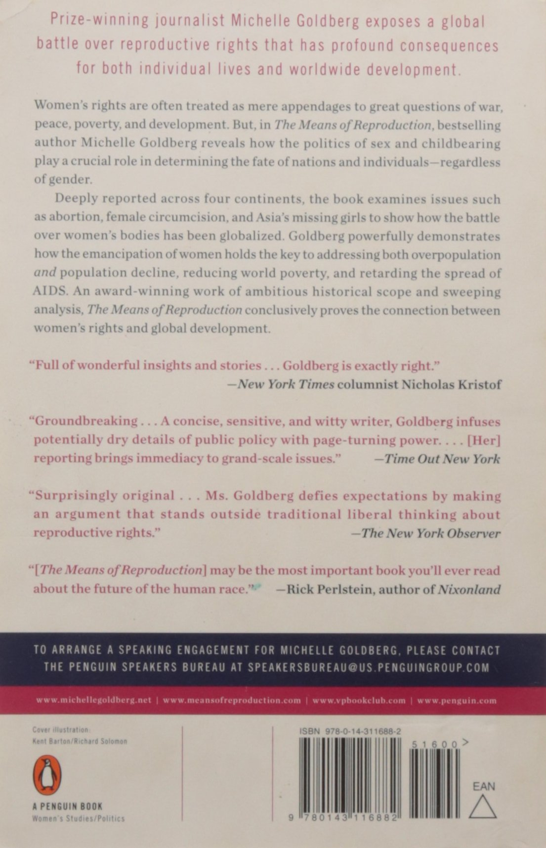The Means Of Reproduction: Sex, Power, And The Future Of The World:  Michelle Goldberg: 9780143116882: Amazon: Books