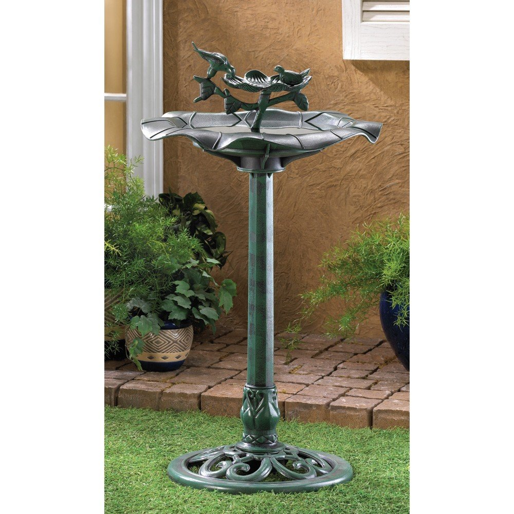 Decorative Attractive Birdbath Verdigris Home Garden Décor