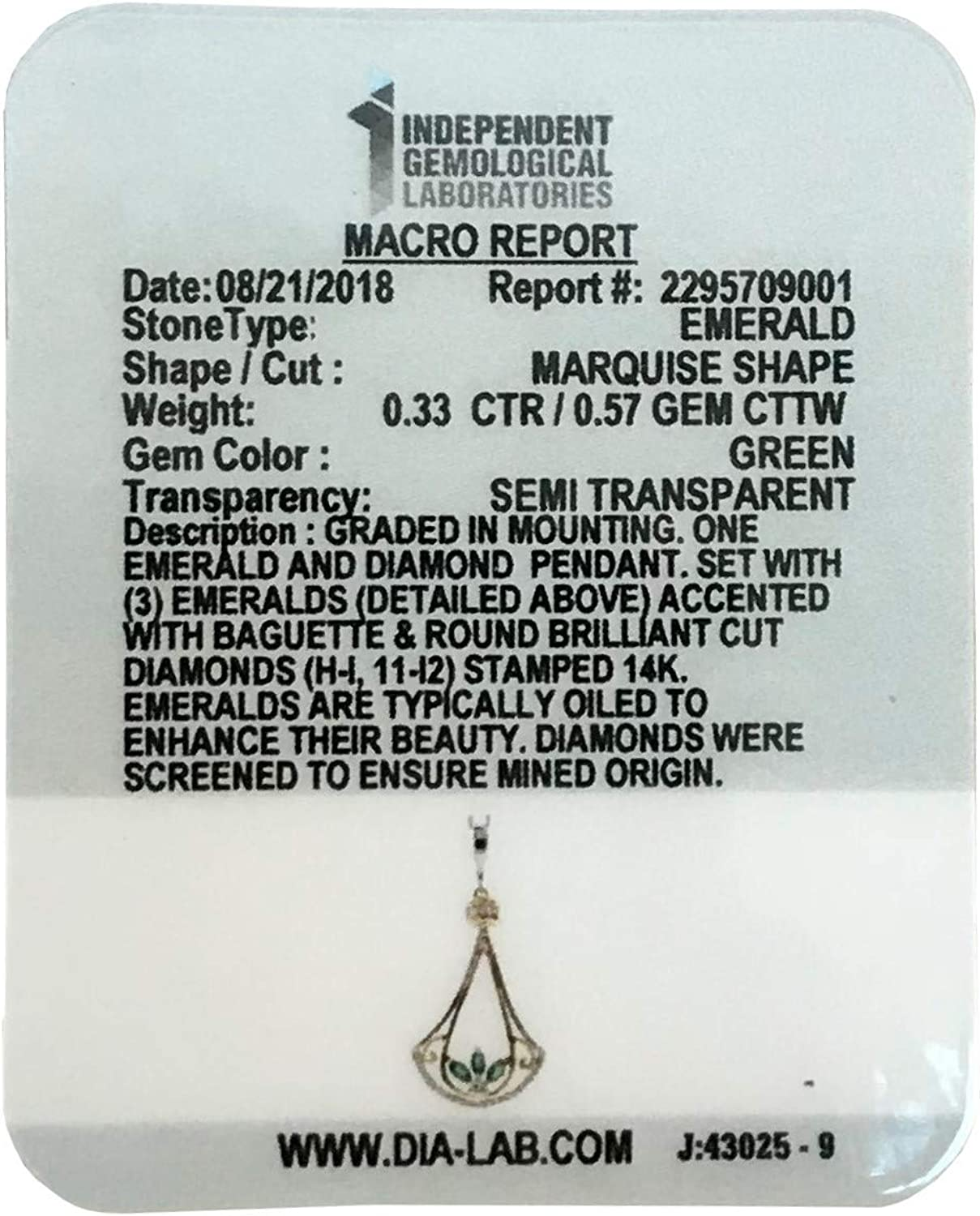 14K Two Tone Sapphire or Emerald White /& Yellow Gold Pendant with Diamonds-Ruby