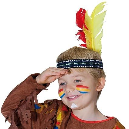 Tocado Plumas Niño | Banda de Cabello Infantil Indio | Adorno de Cabeza Niña | Disfraz