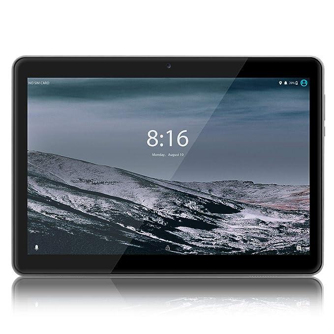 LNMBBS 4G Tablet de 10.1 HD IPS - Android 8.1, WiFi, 2GB de RAM, 32GB ROM, Quad-Core, Dual Sim (Negro)